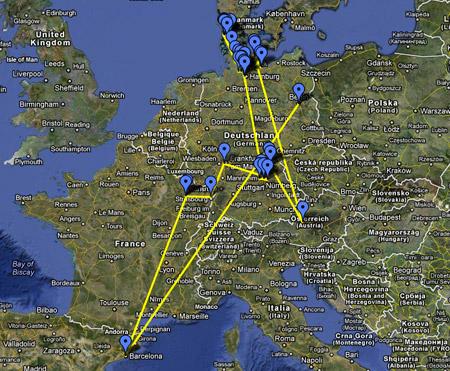 Geocache Route Berliner Schlüssel